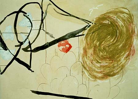 Elizabeth Miller, A Fine Sense of Humor 1996, watercolor, ink, tracing paper, oil on canvas