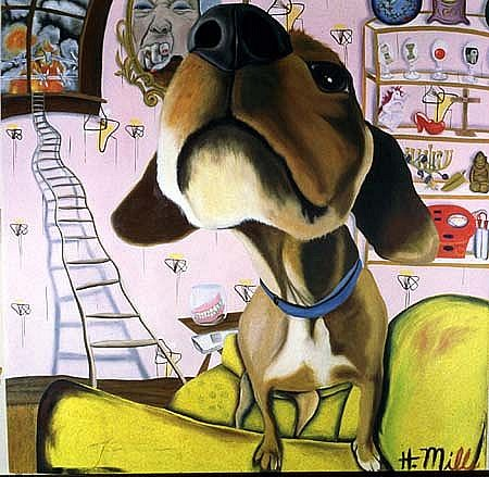 Heidi Pitre, Good Dog, Bad Dog 2004, oil on canvas