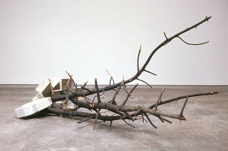Chuck Moffit, Untitled 2007, Shino glazed ceramic, found objects