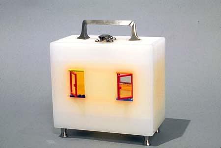 Jaye Moon, Yellow Room Lunchbox 2005, legos, plexiglas