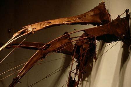 Dominique Morel, Fragments 3,4,5,6 1989, bamboo, fiber, glass