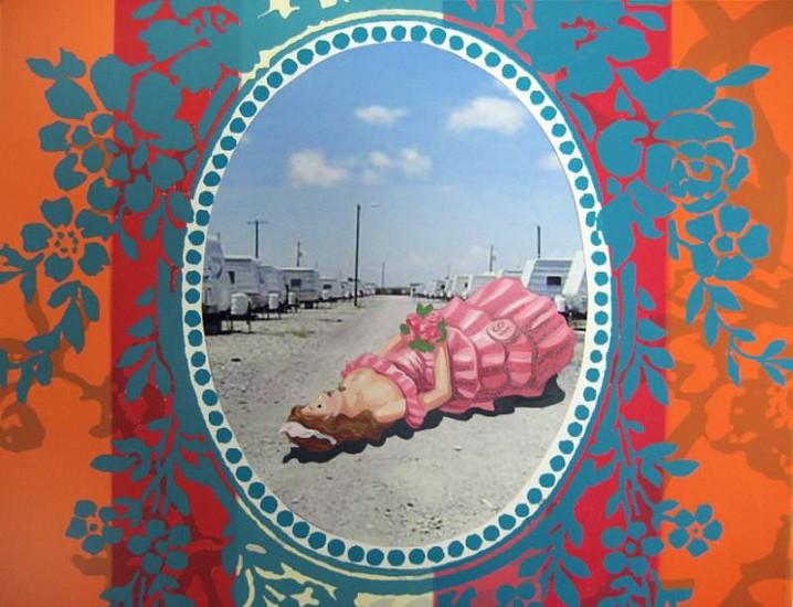Margaret Murphy, Fallen (detail) 2009, ten silkscreen, digital print, acrylic paint on watercolor paper