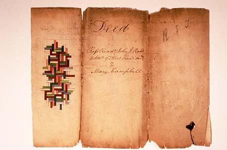 Douglas Navarra, Deed Americana #3 1997, ink