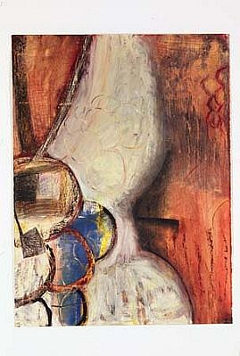 Judith Nilson, Traveling up the Birth Canal 2004, oil paint, oil pastel, pencil, colored pencil on gessoed paper