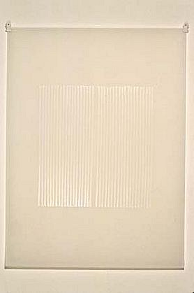 Timothy Nolan, Untitled 2000, white ink printed on mylar