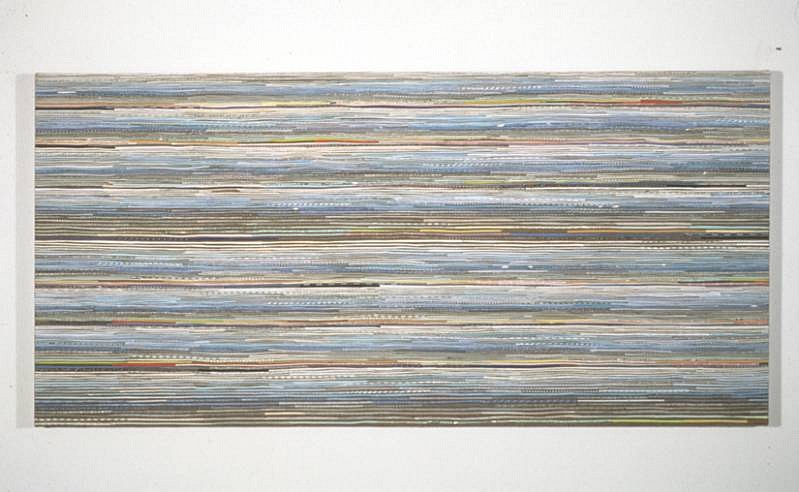 Shona Macdonald, 207 Envelope Innards 2006, envelopes, rice glue, msa varnish on linen