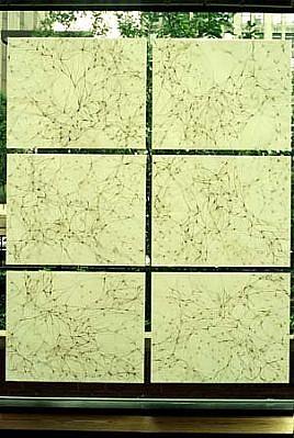 Karen Margolis, Window Piece 1997, ink, gouache, vellum