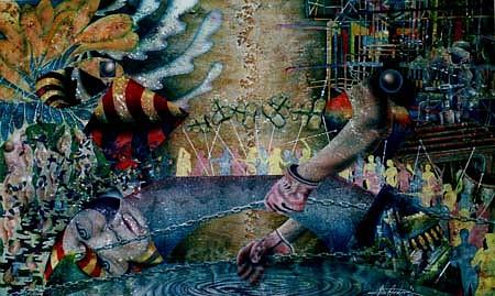 Garry Mealor, Meander 1992, transparent watercolor