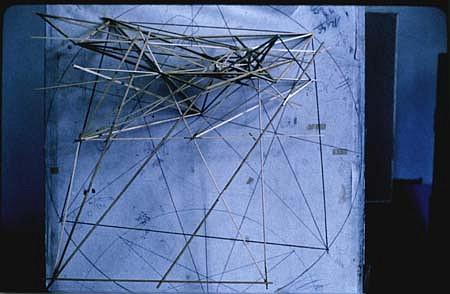 Janos Megyik, Without Title 1980, wood, chalk