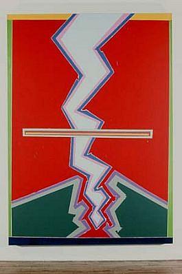 Edward Meneeley, Untitled 1982, acrylic on canvas