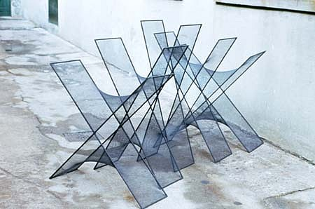 Estella Lackey, X Why? 1997, steel, fabric