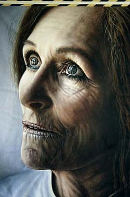 Laurent La Gamba, GRE-3P 2000, acrylic on canvas