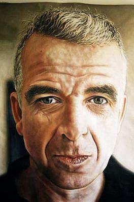 Laurent La Gamba, Charles-Yues 2000, acrylic on canvas