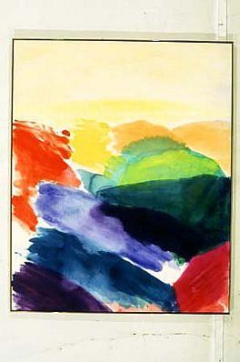 Ronnie Landfield, Regarding Cezanne 2000, acrylic on canvas