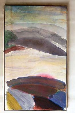 Ronnie Landfield, Nagano 2000, acrylic on canvas