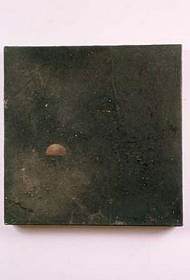 Kevin Larmon, Halflife #1 1992, mixed media on canvas