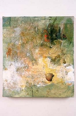 Kevin Larmon, H.R. 1992, oil and collage on linen