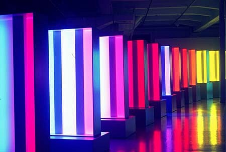 Esa Laurema, The Stream of Light 1999, flourescent tubes
