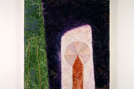 Rex Lau, Untitled 1994, oil, hydrocal,wood