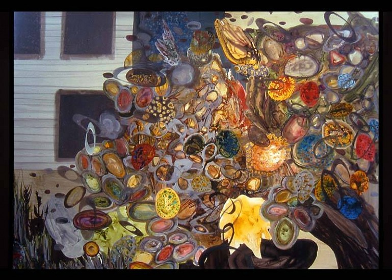 Kurt Lightner, Useless Fruit 2005, acrylic ink on mylar collage