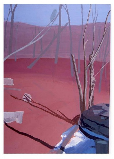 Nikki Lindt, Landscapes and Small People 'Property Line' 2005, acrylic on board