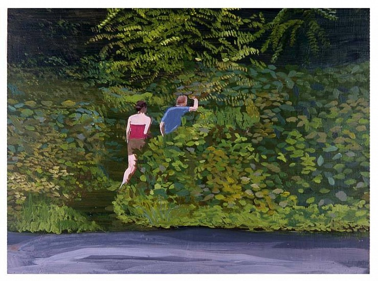 Nikki Lindt, Landscapes and Small People No. 21 2005, acrylic on board