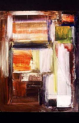 George Lloyd, Venetian Labyrinth 1991, acrylic on canvas