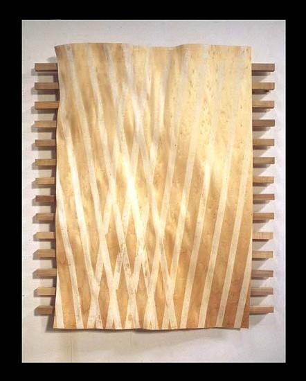 Christopher Loos, Chiasma No. 4 2003, woodcut on aspen sheet with printing block