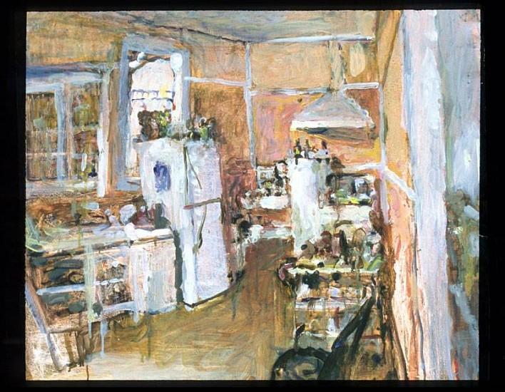 Allen Mitchell Long, Kitchen at Crrete Street 2007, oil on paper