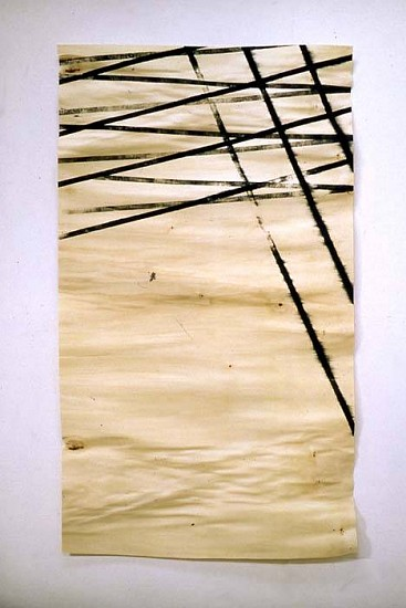Christopher Loos, Chiasma No. 22 2003, anonymous woodcut on aspen sheet