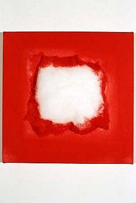 Karin Luner, Untitled 1997, cottonwool, acrylic on canvas