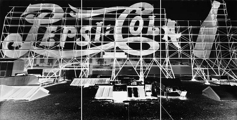 Vera Lutter, Pepsi Cola, Long Island City, X: July 10, 1998 1998, silver gelatin print