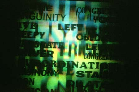 Richard Kostelanetz, Antithesis, A Hologram