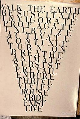 Richard Kostelanetz, Untitled ink on cloth