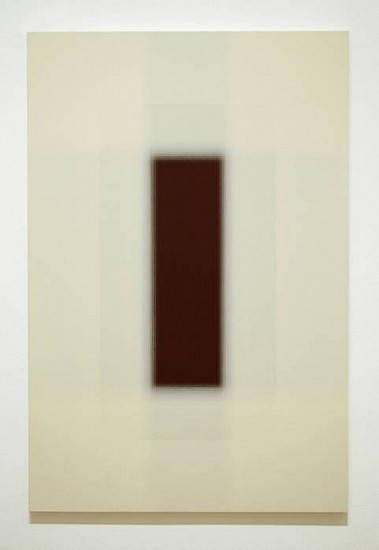 Patsy Krebs, Untitled H.D. (Ivory/Maroon) 2007, acrylic on wood panel