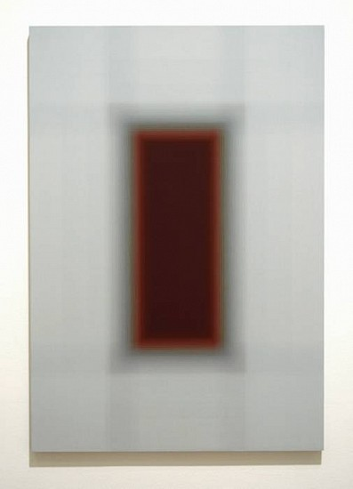 Patsy Krebs, Untitled H.D. (Grey/Rose) 2008, acrylic on wood panel