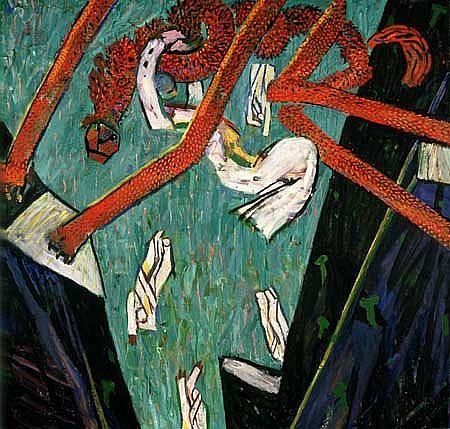 Irving Kriesberg, Rescue II 1987, oil on canvas
