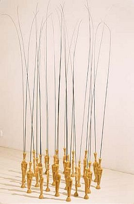 Dana Kane, Untitled 2002, wax figures with reeds