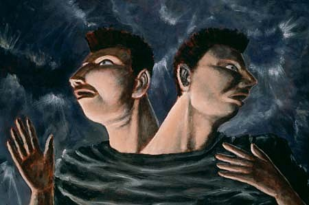 David Kane, The El Greco Twins 1992, acrylic on canvas