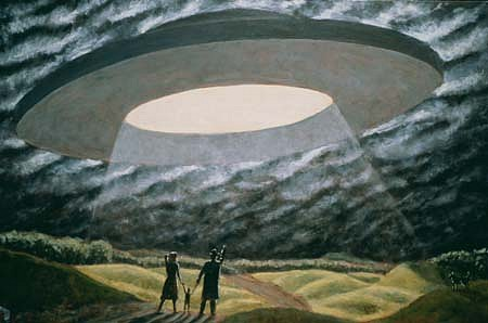 David Kane, Saucer (Seek Us Out and Bring Us Home) 1992, acrylic on canvas
