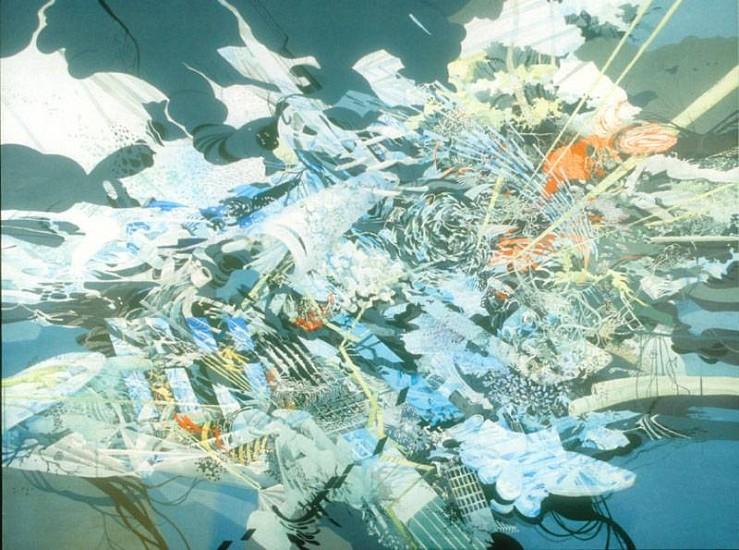 Darina Karpov, Water's Edge 2007, gouache and acrylic on panel