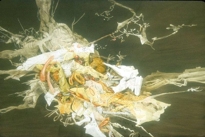 Darina Karpov, Laid Traps 2007, acrylic on panel