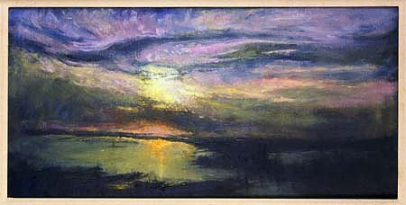 Herbert Katzman, New York Bay 1997, oil on canvas