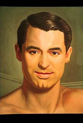 Kurt Kauper, Cary Grant No. 1 (detail) 2003, oil on birch panel