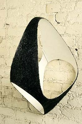 Steve Keister, Untitled 1987, fiberglass, epoxy, resin, bristles
