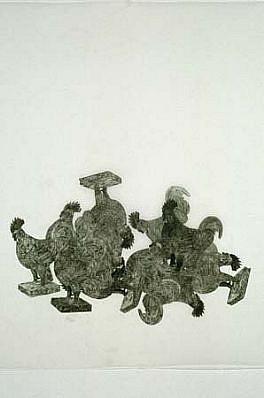 Arnold Kemp, Untitled #18 2001, graphite on mylar vellum