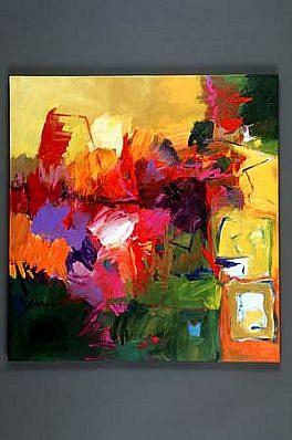 Margaret Kennedy, Genesis: Hot Garden 2001, acrylic