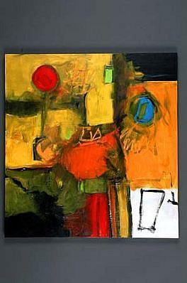 Margaret Kennedy, Wet Street 2001, acrylic