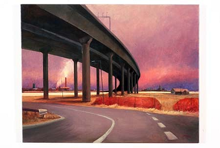 Michael Kelly, The Road West 2002, oil on linen
