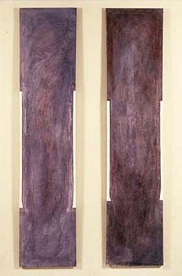 Joanne Kent, Votive Series 1 & 2 1986, oil, mixed media